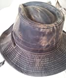 #6: Dorfman-Pacific Weathered Cotton Outback Hat With Chin Cord
