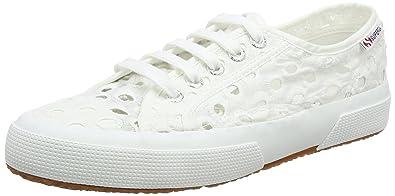 Damen 2750 Embroiderycottonw Sneaker, White (White), 41 EU Superga