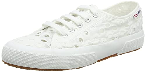 Superga 2750 Embroiderycottonw Sneaker Donna Bianco White 901 38 EU