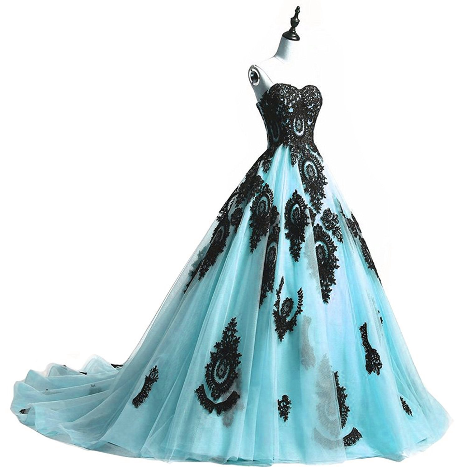 60b1401461bc9 YSMei Womens Strapless Tulle Evening Dress Lace Appliqued Formal Ball Gown  JR415 at Amazon Women s Clothing store