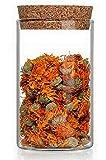 6 boîtes de conservation alimentaires en verre avec couvercles, Récipient Jardin Sets de Conteneurs Alimentaires Pot à provisions Boîte à Bonbonnière pour aliments Flacons Mini Bouteilles Bouchon Liege. Idéal pour le stockage des aliments, 500 ml de slkfactory