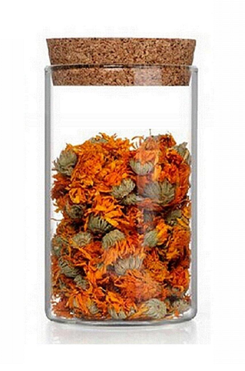 24 leere Glasbehälter 200 ml Vorratsdosen Vorrats-Behälter mit Kork-Verschluss auch in Größen 50 500 und 1000 ml von slkfactory