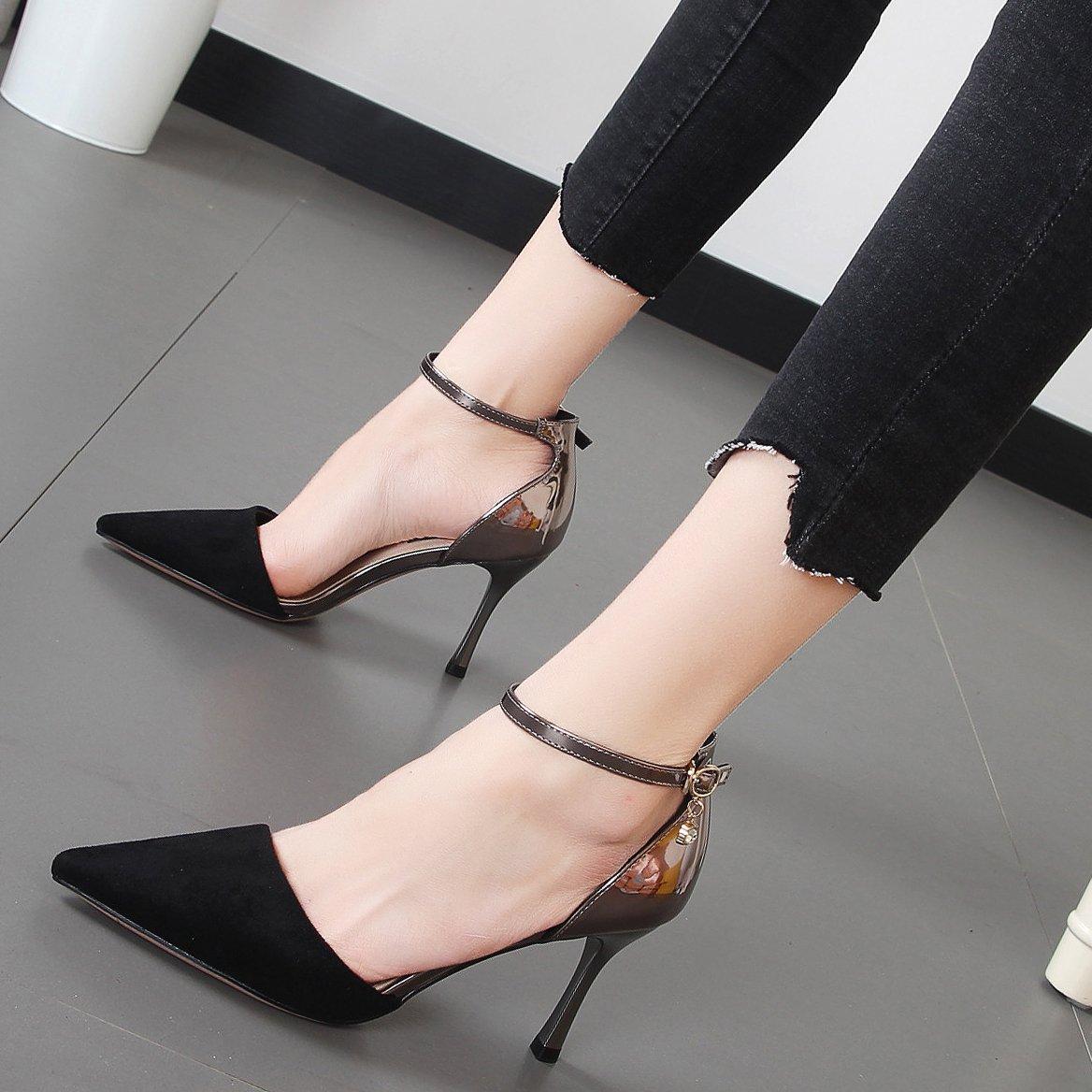 Xue Qiqi Qiqi Qiqi hohe hingewiesen - Schuhe für Frauen des Wortes Schreibweisen elegante Schuhe Halbschuhe mit single Tide a91bf6