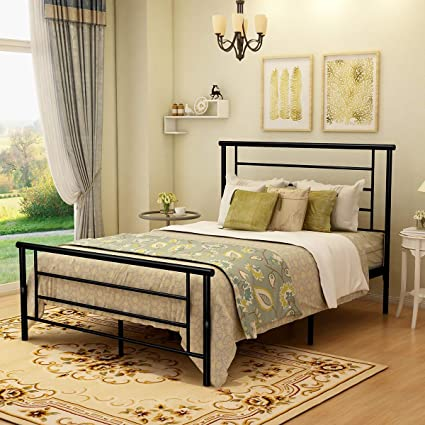 Amazon Com Metal Platform Bed Frame With Headboard And Footboard