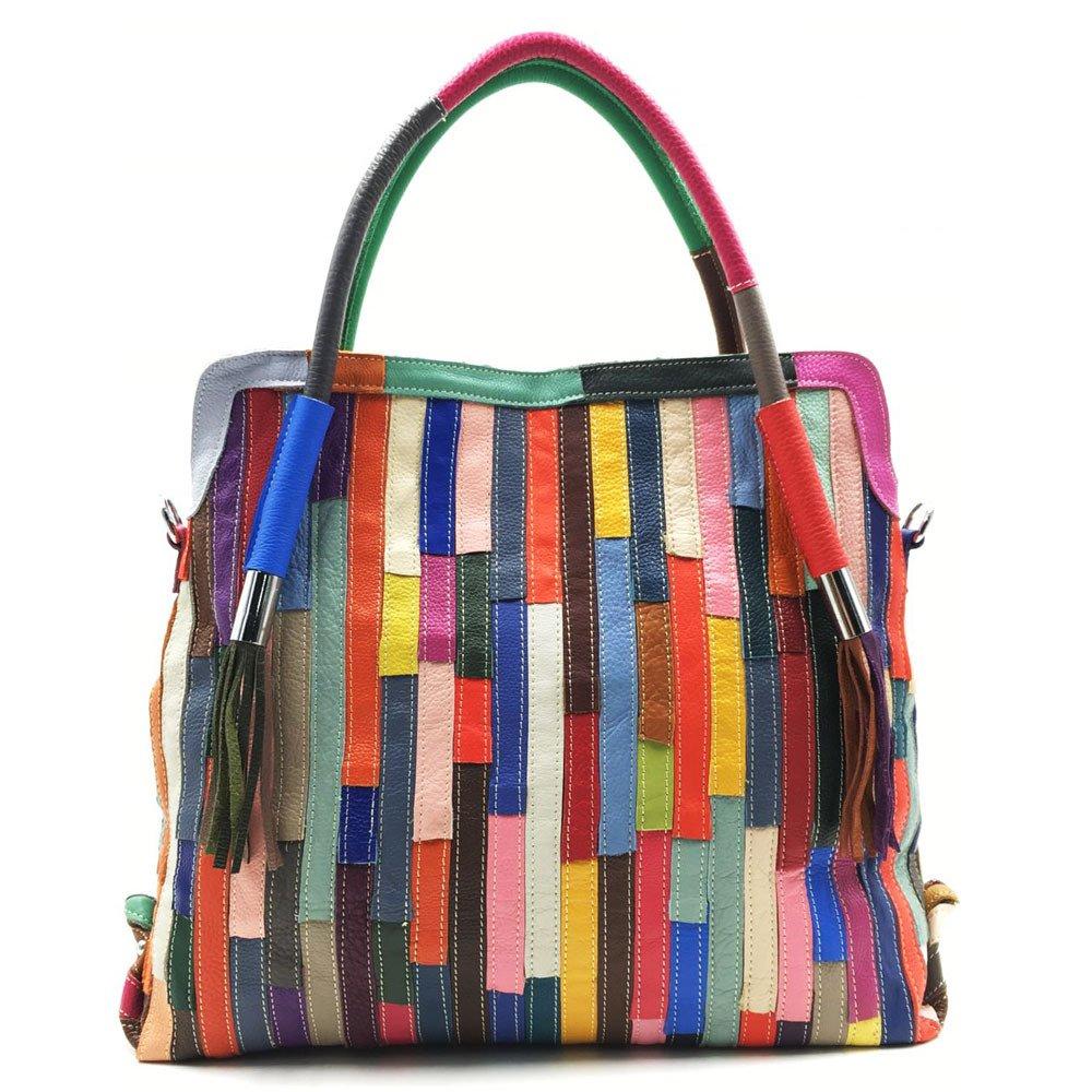 UHUBBG WomenS Bag Shoulder Bag Messenger Bag Color Matching Large Retro Style 38X36X16Cm