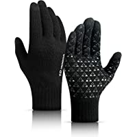 TRENDOUX Winter Gloves for Men and Women - Knit Touch Screen Anti-Slip Silicone Gel - Elastic Cuff - Thermal Soft Wool…
