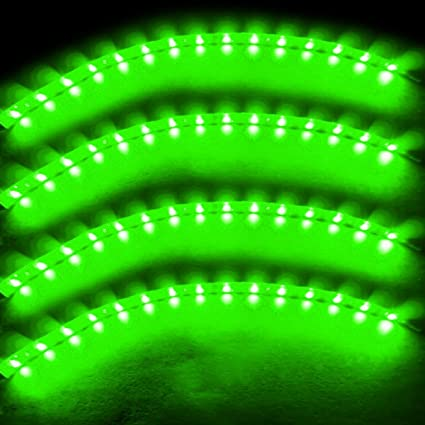Green Led Light Strips Simple Amazon Zento Deals 60cm Green LED Car Flexible Waterproof Light