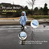 HAPIU Kids Toddler Rain Suit Muddy Buddy Waterproof Coverall,Blue,3T,Original