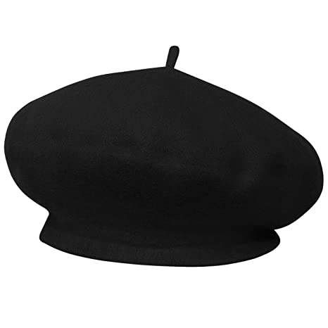 399154b1291 TRIXES French Beret Black Fancy Dress Theme Hat  Amazon.ca  Luggage   Bags