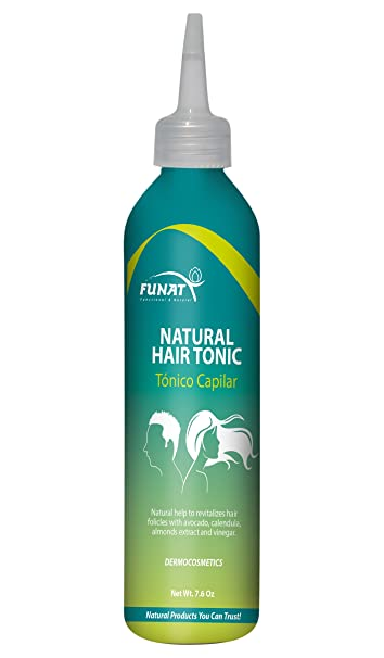 Funat Natural Organic Revitilizing Scalp Hair Loss Thinning & Dandruff Leave in Tonic Treatment Tonicos pra
