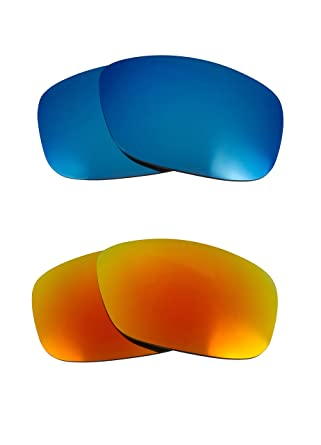 2b3986ed66 Image Unavailable. Image not available for. Color  FLAK 2.0 XL Replacement  Lenses Polarized Blue   Yellow by SEEK fits OAKLEY