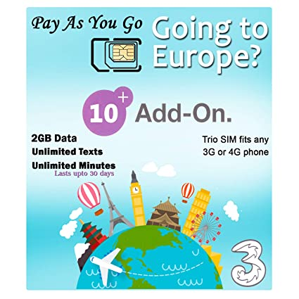 Amazon.com: PrePaid Europe - Tarjeta SIM de 2 GB/5 GB/12 GB ...