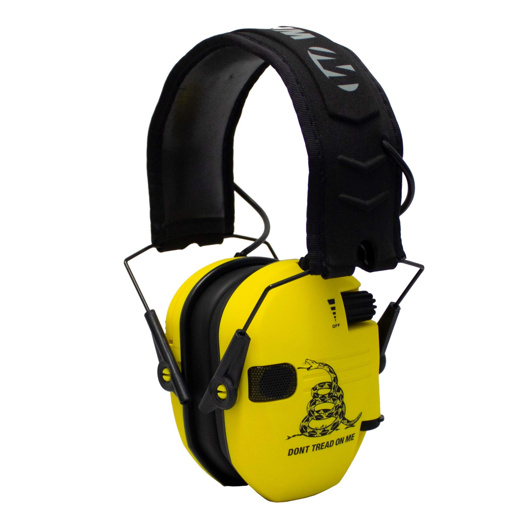 Walker's Razor Slim Electronic Shooting Hearing Protection Muff (Don't Tread On Me, Yellow) by Walker's Game Ear