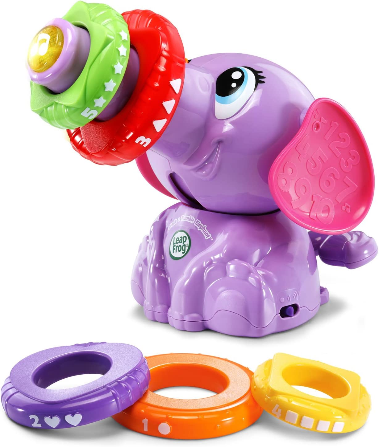 LeapFrog Stack & Tumble Elephant (Amazon Exclusive), Great Gift For Kids, Toddlers, Toy for Boys and Girls, Ages 1, 2,Purple