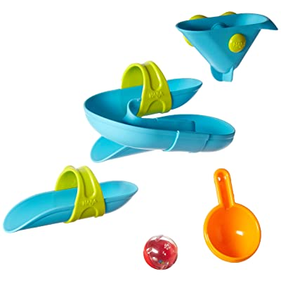 HABA Bathing Bliss Bathtub Ball Track Water Course (5 Piece): Toys & Games