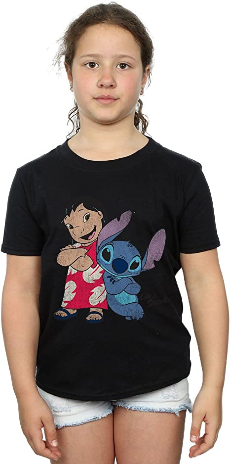 Official Women/'s White Disney Lilo And Stitch Be Nice T-Shirt