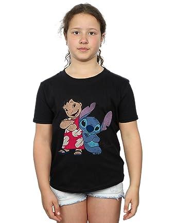 f473f75c3 Disney Girls Lilo & Stitch Classic Lilo & Stitch T-Shirt: Amazon.co ...