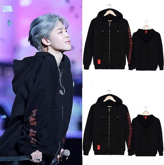 YJYP Kpop Boys Love Yourself Hoodie Jimin Jungkook Suga V RM Jin World Tour Zipper Jacket
