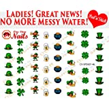 St. Patricks Day. clear vinyl PEEL and STICK (NOT Waterslide) nail decals. CV-SPD007-46