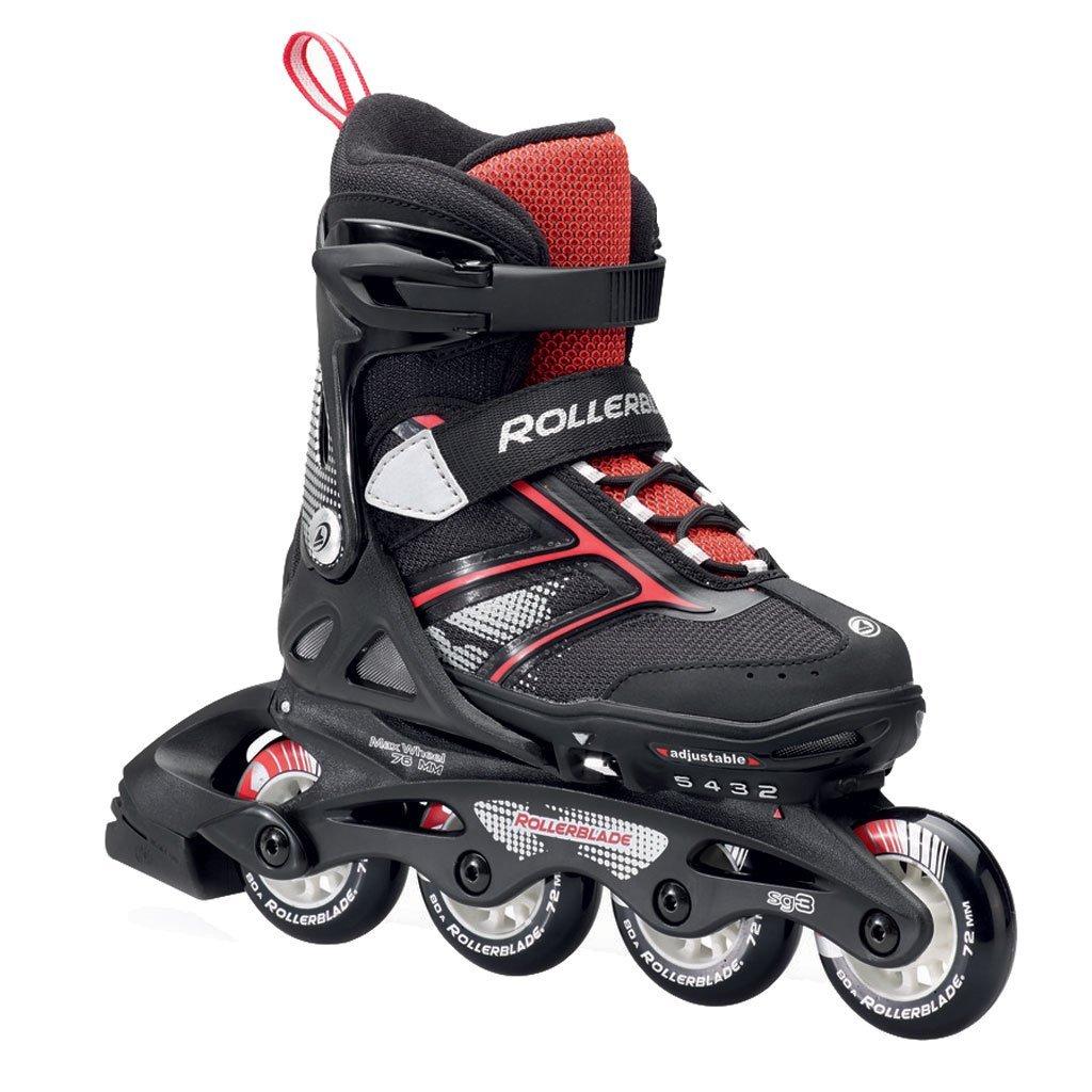 Rollerblade Spitfire JR XT 2016 Kids Skate, Black/Red, Adjustable (5 to 8)