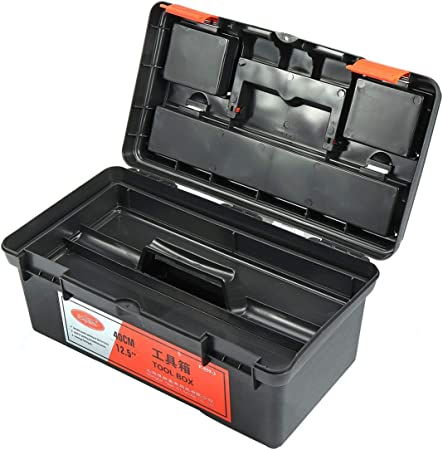 Caja herramientas Herramientas Caja de almacenamiento organizador del sostenedor de la bandeja mango de plástico caja de herramientas Protable contenedores desmontables herramientas CASE caja de herra: Amazon.es: Hogar