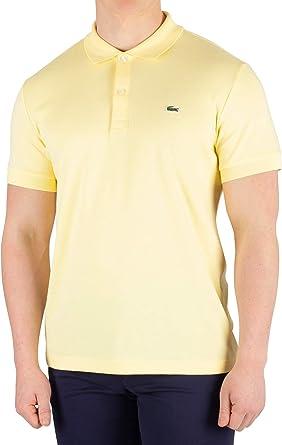 Lacoste de los Hombres Camisa Polo, Amarillo, L: Amazon.es ...