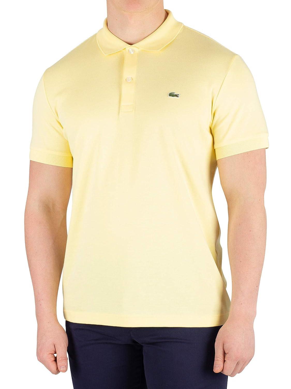 Lacoste de los Hombres Camisa Polo, Amarillo, L: Amazon.es: Ropa y ...