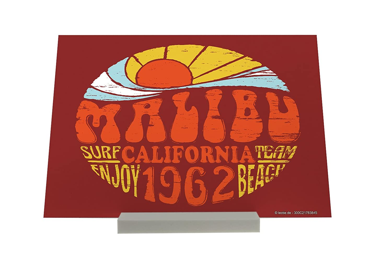 Soporte impresión del arte Fotografias Aventurero Malibú California Letrero Decoración: Amazon.es: Hogar