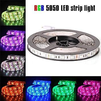 Amazon econoled 12v flexible smd 5050 rgb led strip lights econoled 12v flexible smd 5050 rgb led strip lights led tape multi colors aloadofball Gallery