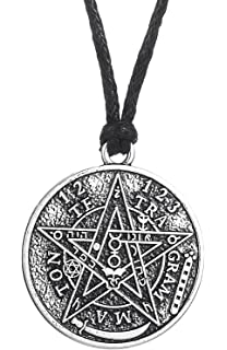 Amazon sterling silver tetragrammaton pentagram pentacle ancient hebrew esoteric tetragrammaton pentagram name of god pendant necklace blessing jewelry for men mozeypictures Images