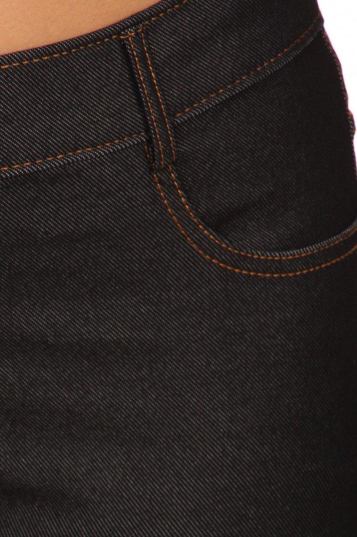 ICONOFLASH Women's Jeggings - Pull On Slimming Cotton Jean Like Leggings (Black, 2XL) by ICONOFLASH (Image #4)