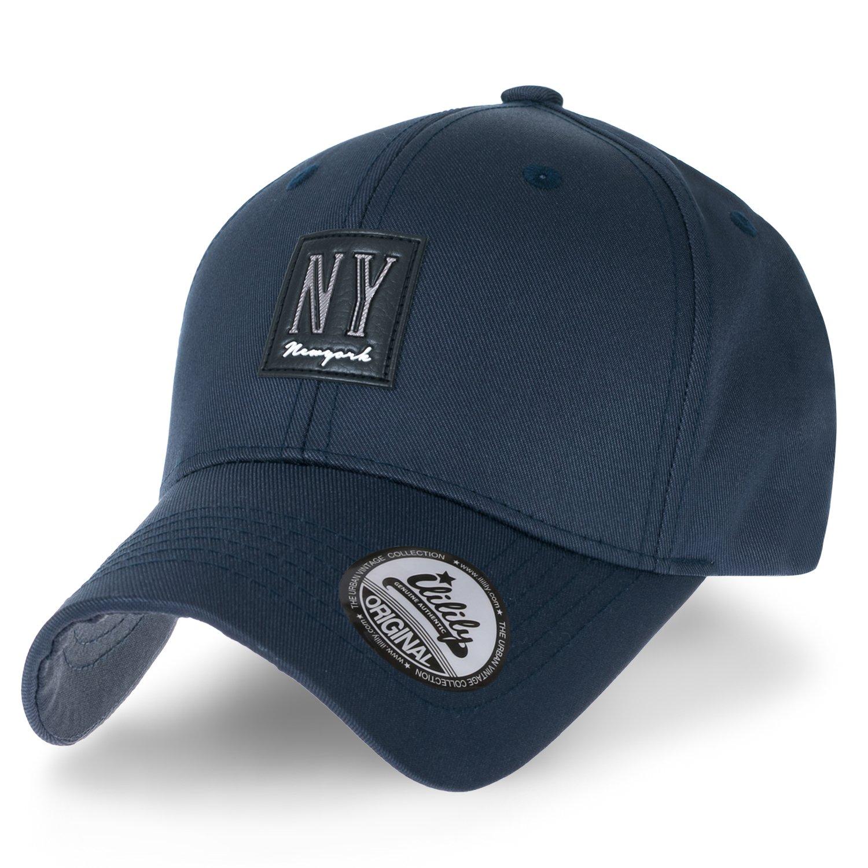 fc7e54c4e61e Ililily patch solid color baseball cap faux leather strapback trucker hat  black at amazon men clothing