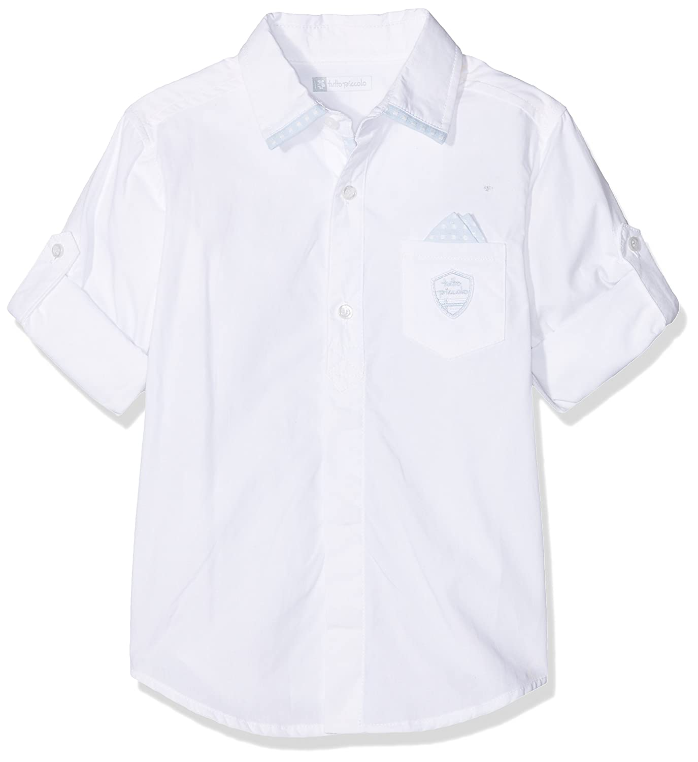 Tutto Piccolo 4020S18 Camisa, Blanco (White-Sky Blue W00B), 74 ...
