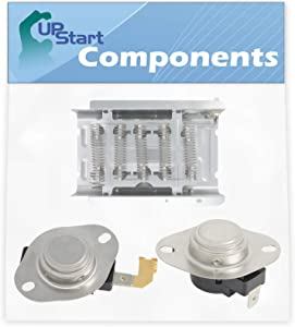 279838, 3977767 & 3392519 Dryer Heating Element & Thermostat Combo Pack Replacement for Whirlpool LER5600HQ0 Dryer - Compatible with 279838, 3977767 & 3392519 Heater Element and Thermostat Combo Pack