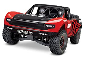 3. Traxxas Unlimited Desert Racer 4X4 RC Race Truck, Red