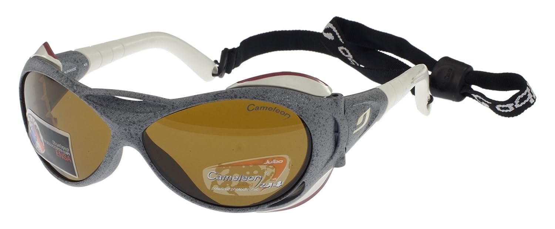 Julbo Gafas de Sol Explorador Servicio Pesado, Granite, con Protectores Laterales extraíbles, Cameleon Anti-Niebla Lentes Fotocromáticas Polarizadas, ...
