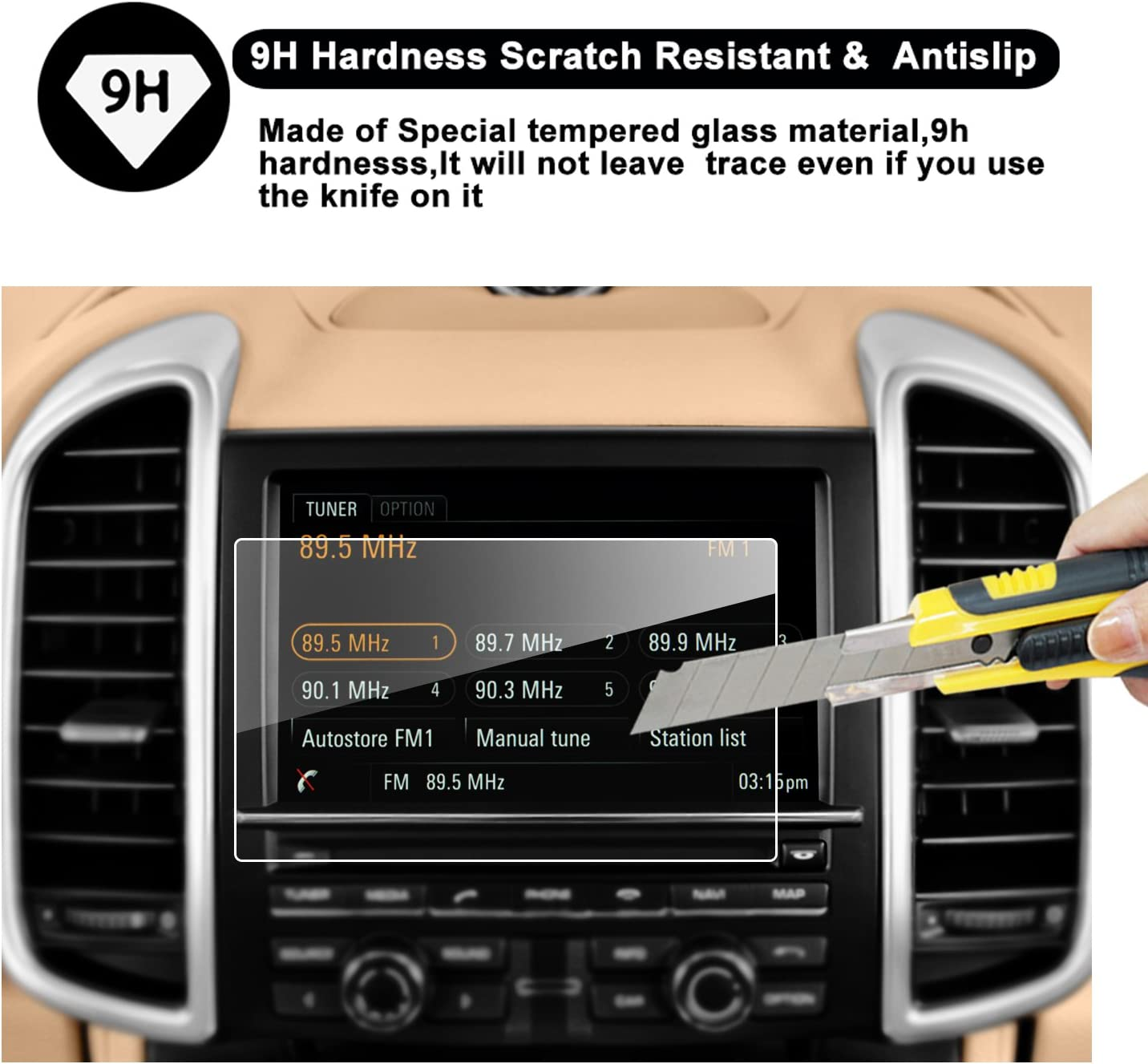 RUIYA 2015-2016 Porsche Cayenne//Porsche Macan Coupe//Hatchback 7-Inch in-Dash Navigation Screen Protector High Clarity 2015-2016 Porsche Cayenne//Porsche Macan Anti-Fingerprint /& Anti-Scratch