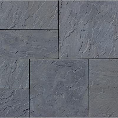 Nantucket Pavers 31031 Concrete Rivenstone Patio on a Pallet, Basket weave Style, 10 by 10-Feet, Gray : Outdoor Decorative Stones : Garden & Outdoor