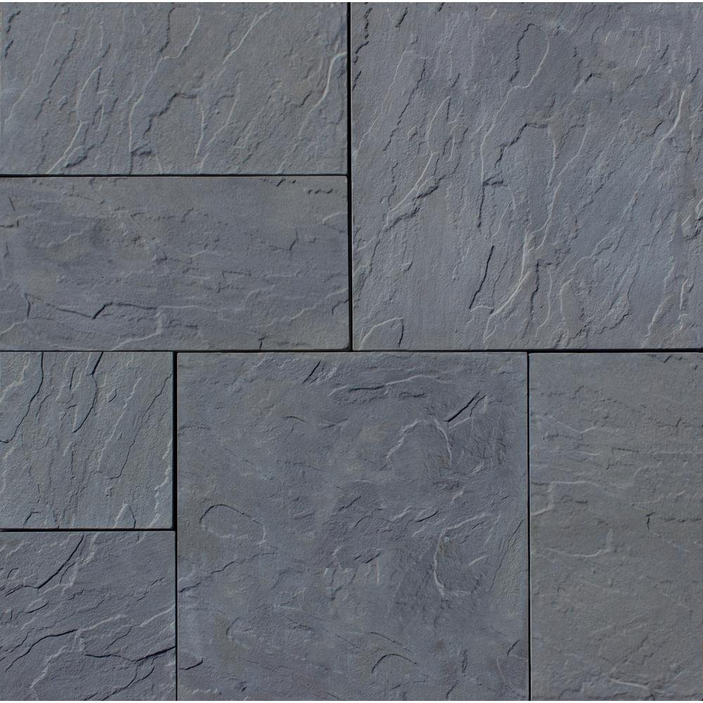 Nantucket Pavers Patio-on-a-Pallet 12 in. x 24 in. and 24 in. x 24 in., 48 sq. ft. Concrete Gray Basketweave York-Stone