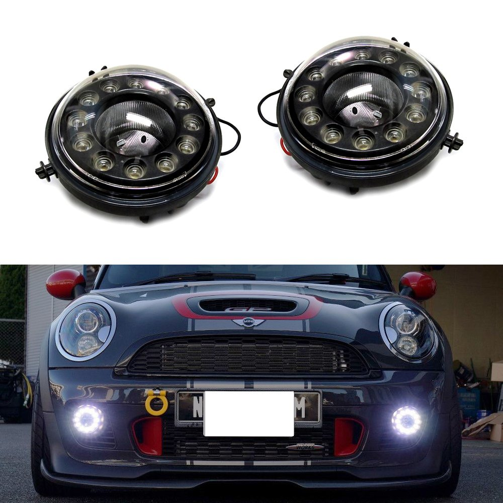 71QNumsP55L._SL1000_ amazon com ijdmtoy exact fit 12 cree led daytime running lights  at bakdesigns.co