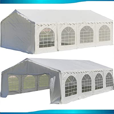 DELTA Canopies Budget PE Party Tent Canopy Shelter White - 26'x20' : Garden & Outdoor