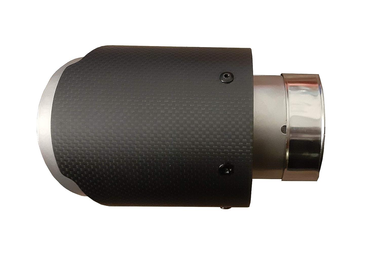 attacco 60-65 mm CARTUNER/® Terminale di scarico doppio in carbonio 100 mm