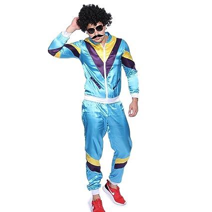 Maboobie - Disfraz de ochentero en chándal para Hombre Disfraces de los años 80 Deportiva Retro 80s (M)