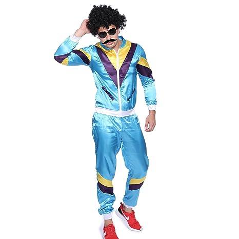 Maboobie - Disfraz de ochentero en chándal para Hombre Disfraces de los años 80 Deportiva Retro