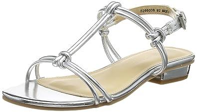 quality design get cheap super cute New Look Women's Hottie T-Bar Sandals (Silver), 6 UK (39 EU ...