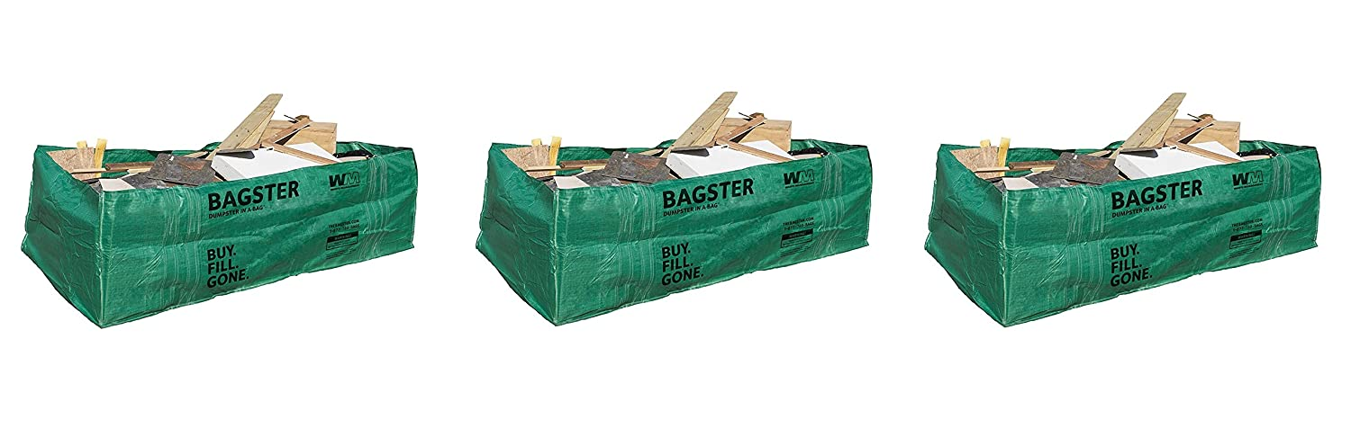 Bagster 3 CUYD Dumpster in aバッグ Pack of 3 B07DY4ZS8V