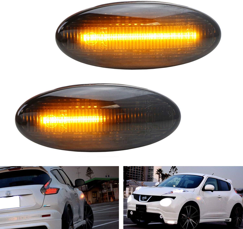 2x smoke  amber LED Side Marker signal Light For Nissan qashqai juke x-trail T31