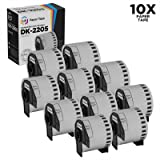 Compatible Brother DK-2205 10 Rolls of White Label Tape
