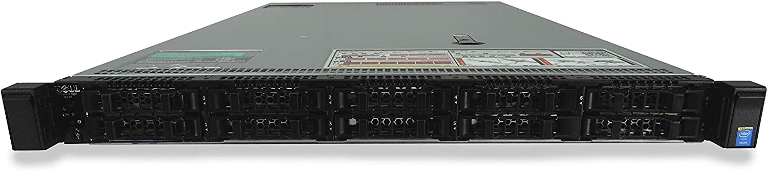High-End Dell PowerEdge R630 10 Bay SFF 1U Server, 2X Xeon E5-2667 V4 3.2GHz 8 Core, 48GB DDR4 RAM, PERC H730, 10x 1.6TB SATA 6Gbps 2.5 SSDs, 2X 750W PSUs, Rails (Renewed)