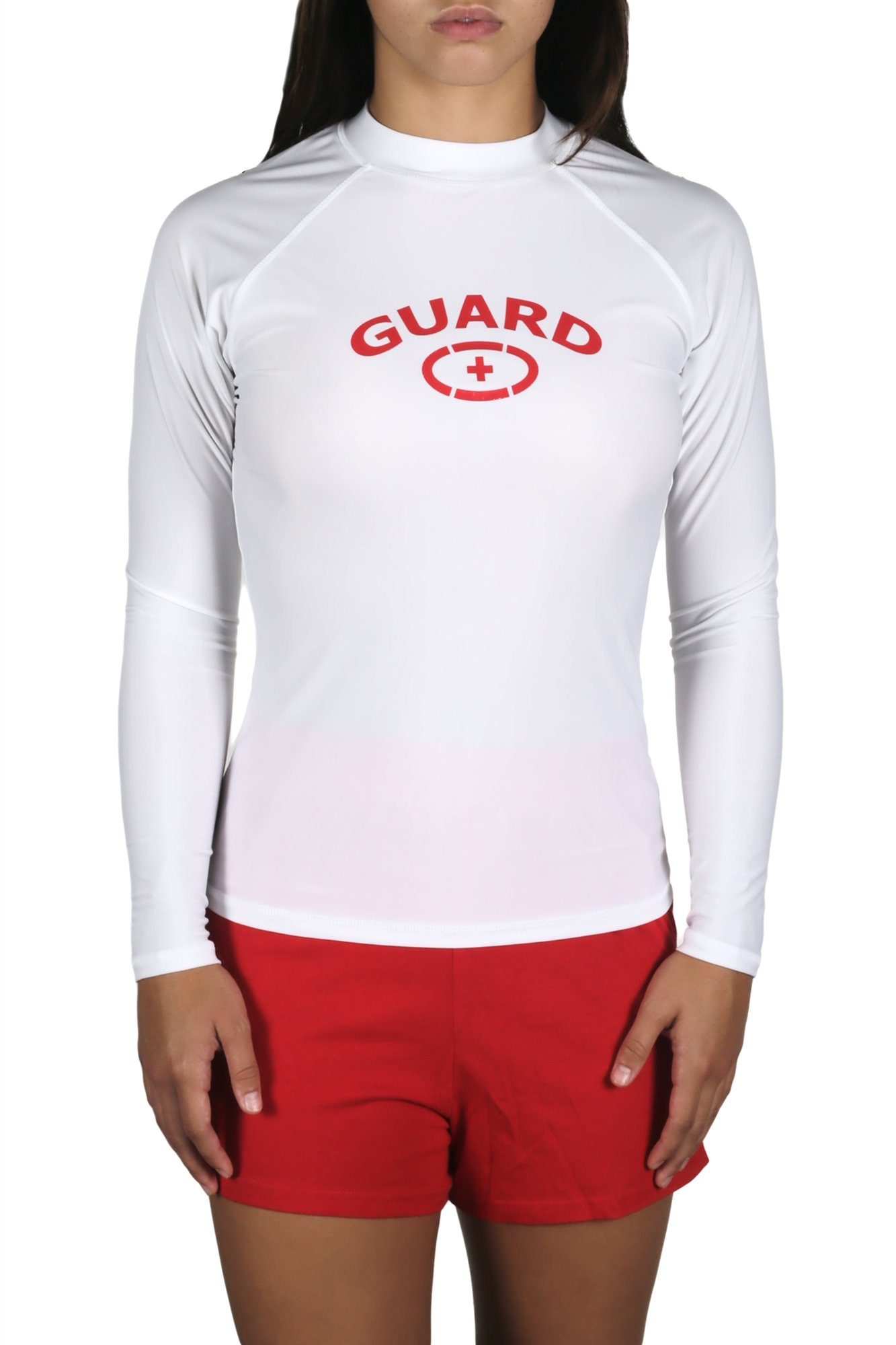 Adoretex Women's Guard Rashguard Long Sleeve Swim Shirt (White, Large) by Adoretex